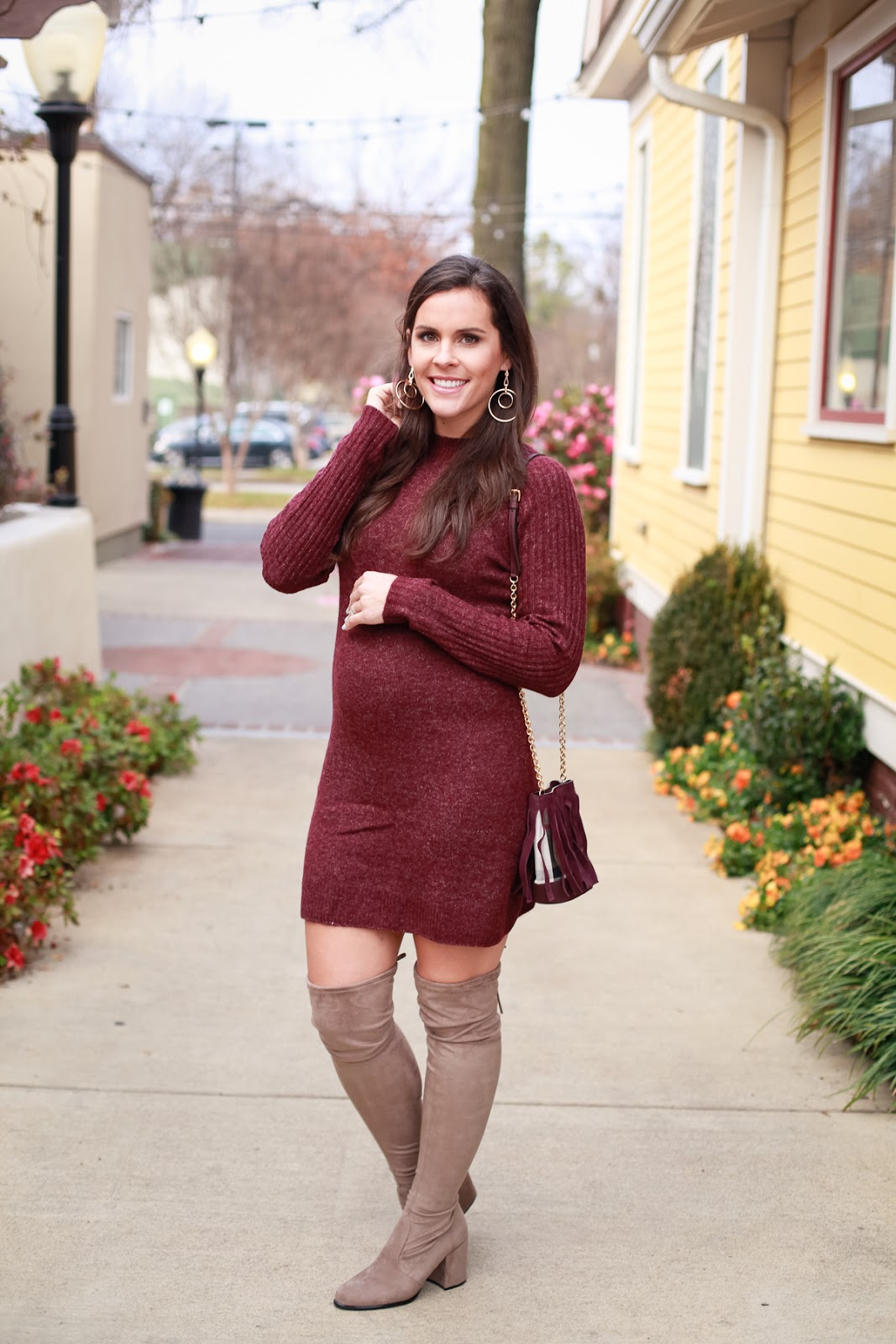 S Waters and Sweater Dress with Boots