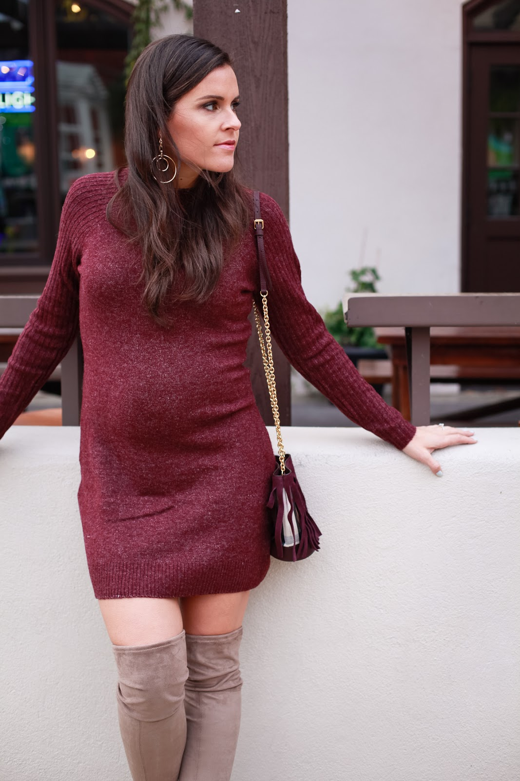Balancing Thigh High Boots With A Sweater Dress