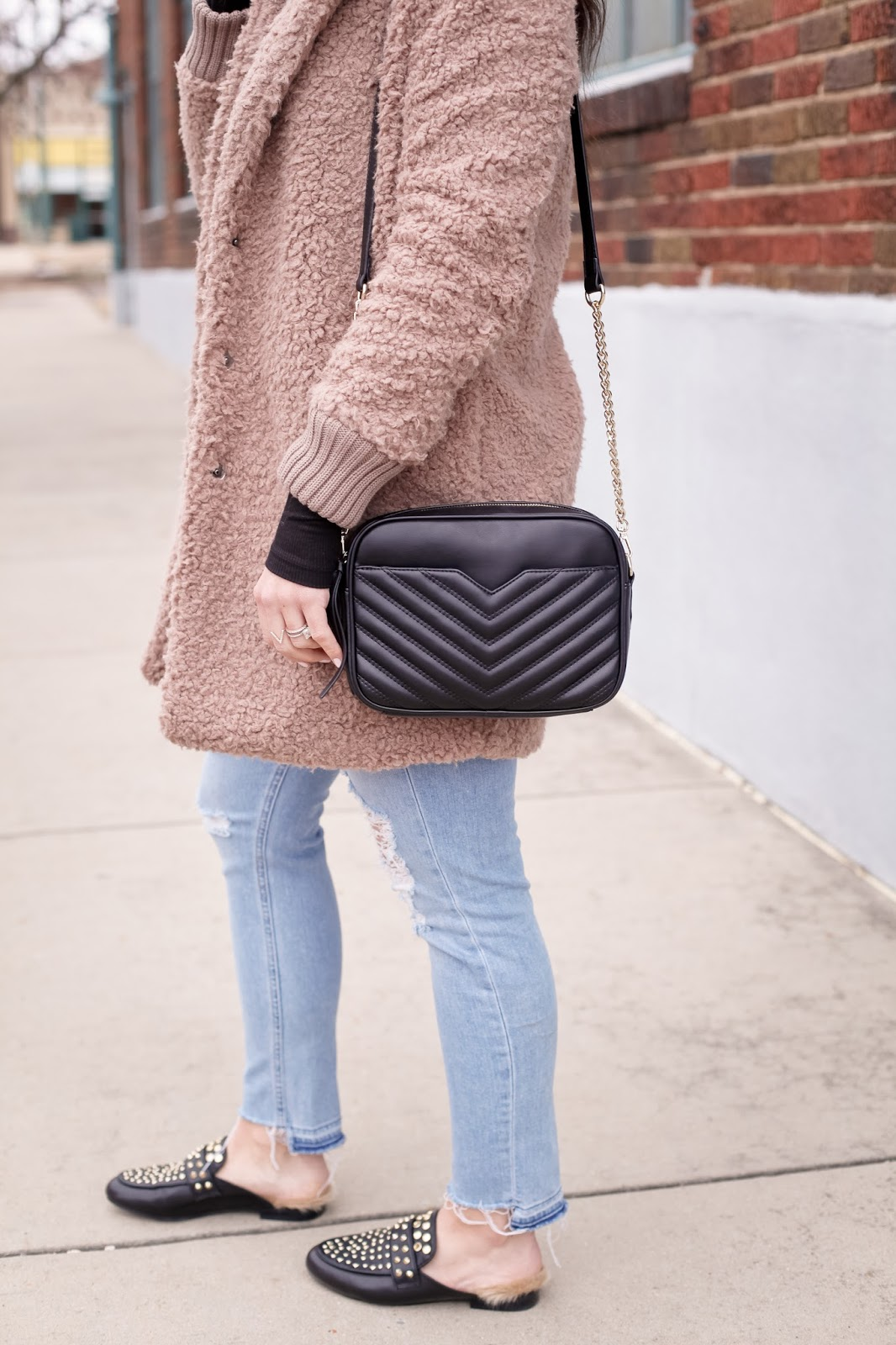 Stylish ways to style a teddy coat.