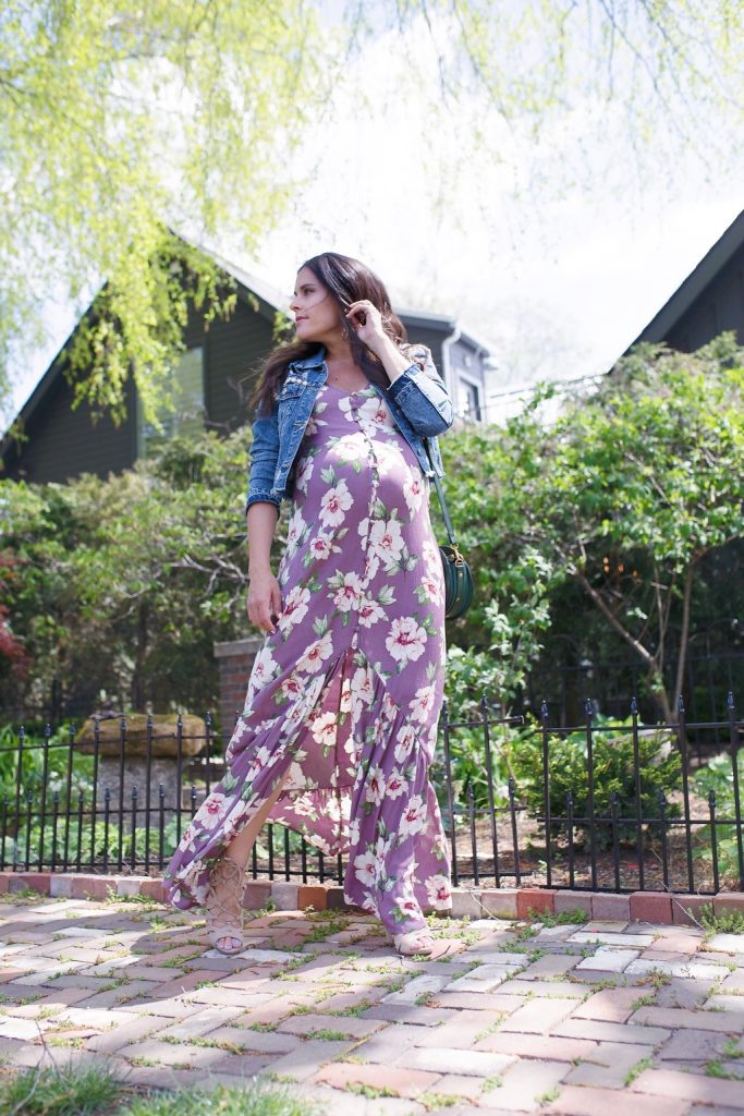 nordstrom floral maxi dress