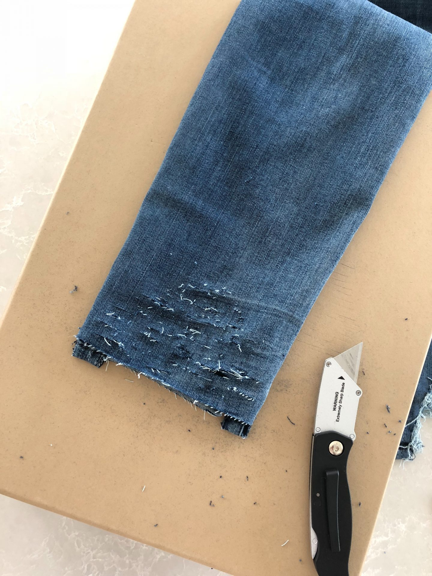 diy hem destruction