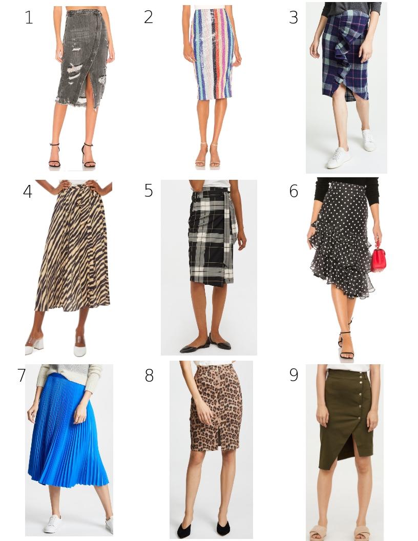 fall midi skirts