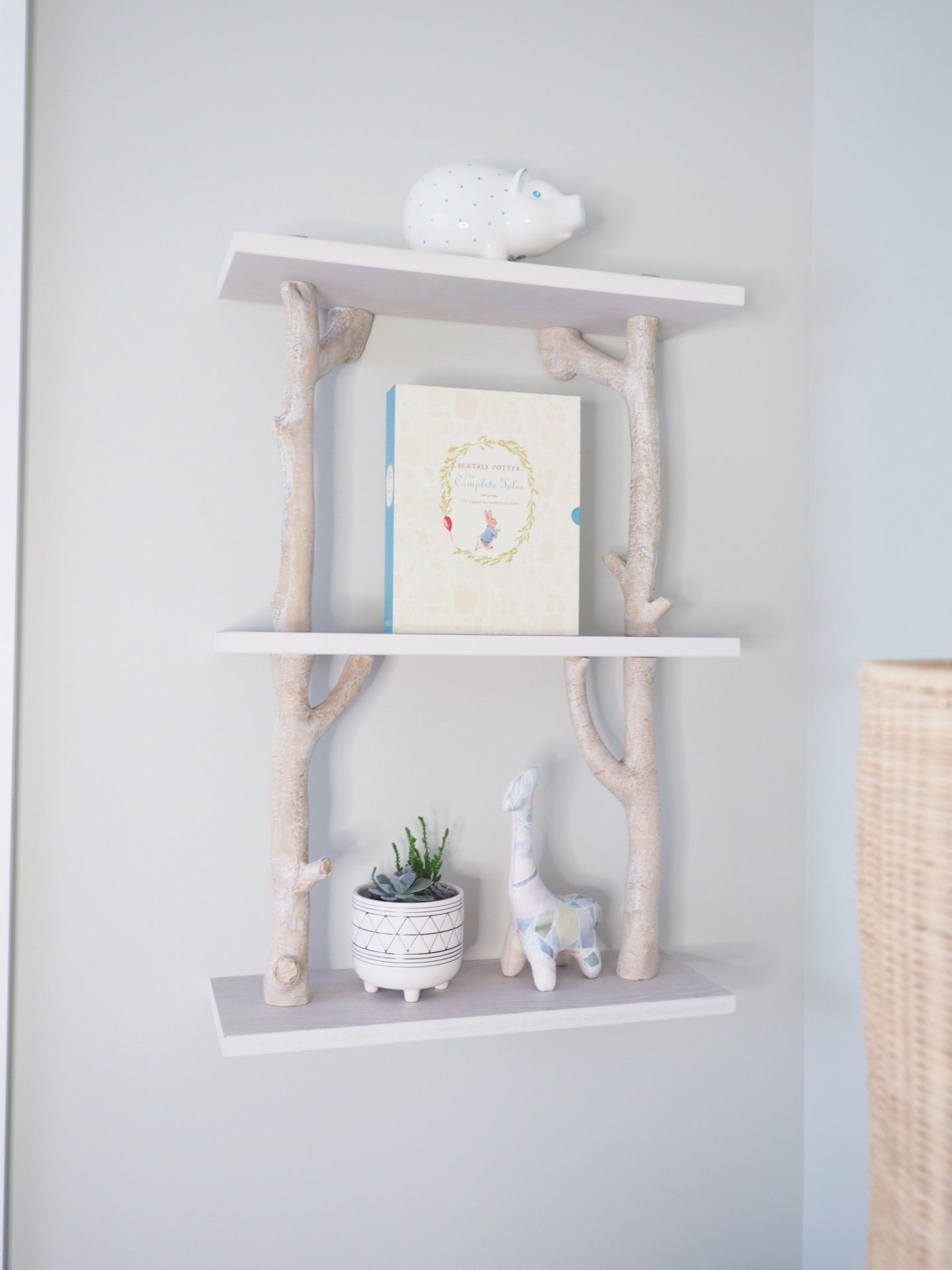 pottery barn kids birch shelf nursery