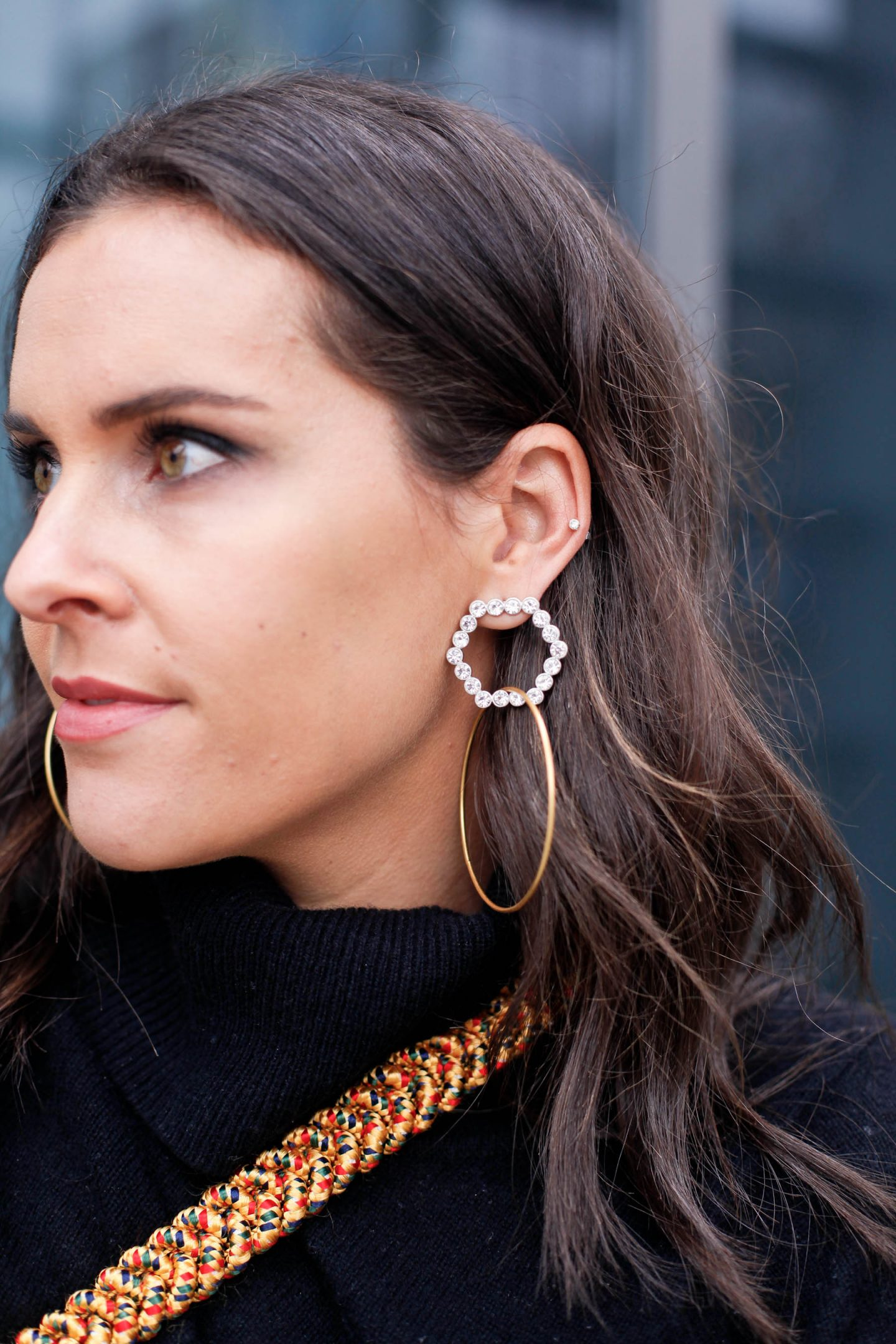 blogger statement earrings