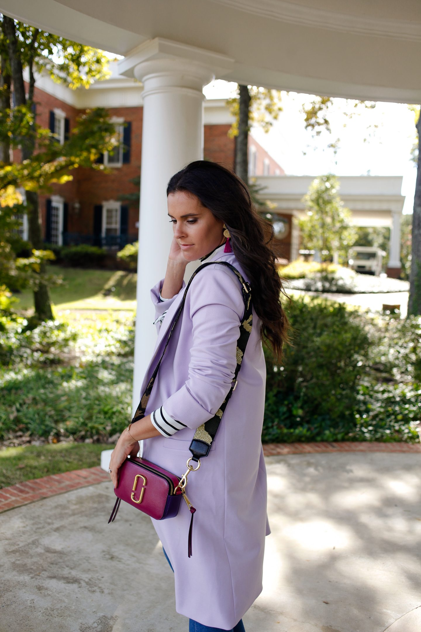 alice and olivia lavender jacket