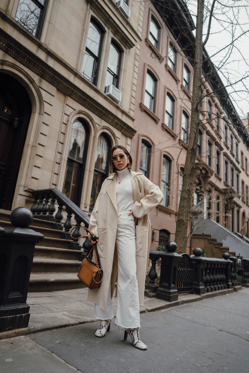 how to wear white in the winter song of style