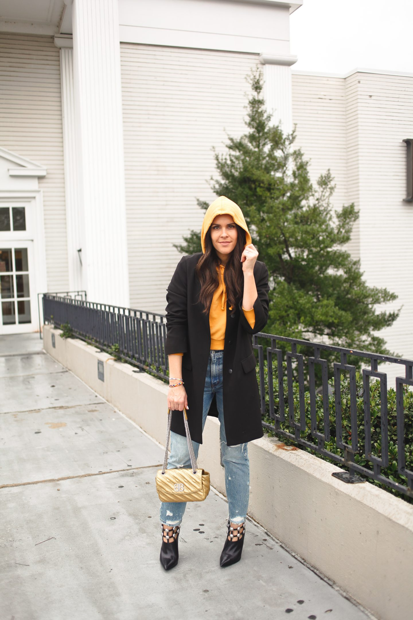 cropped hoodie blogger