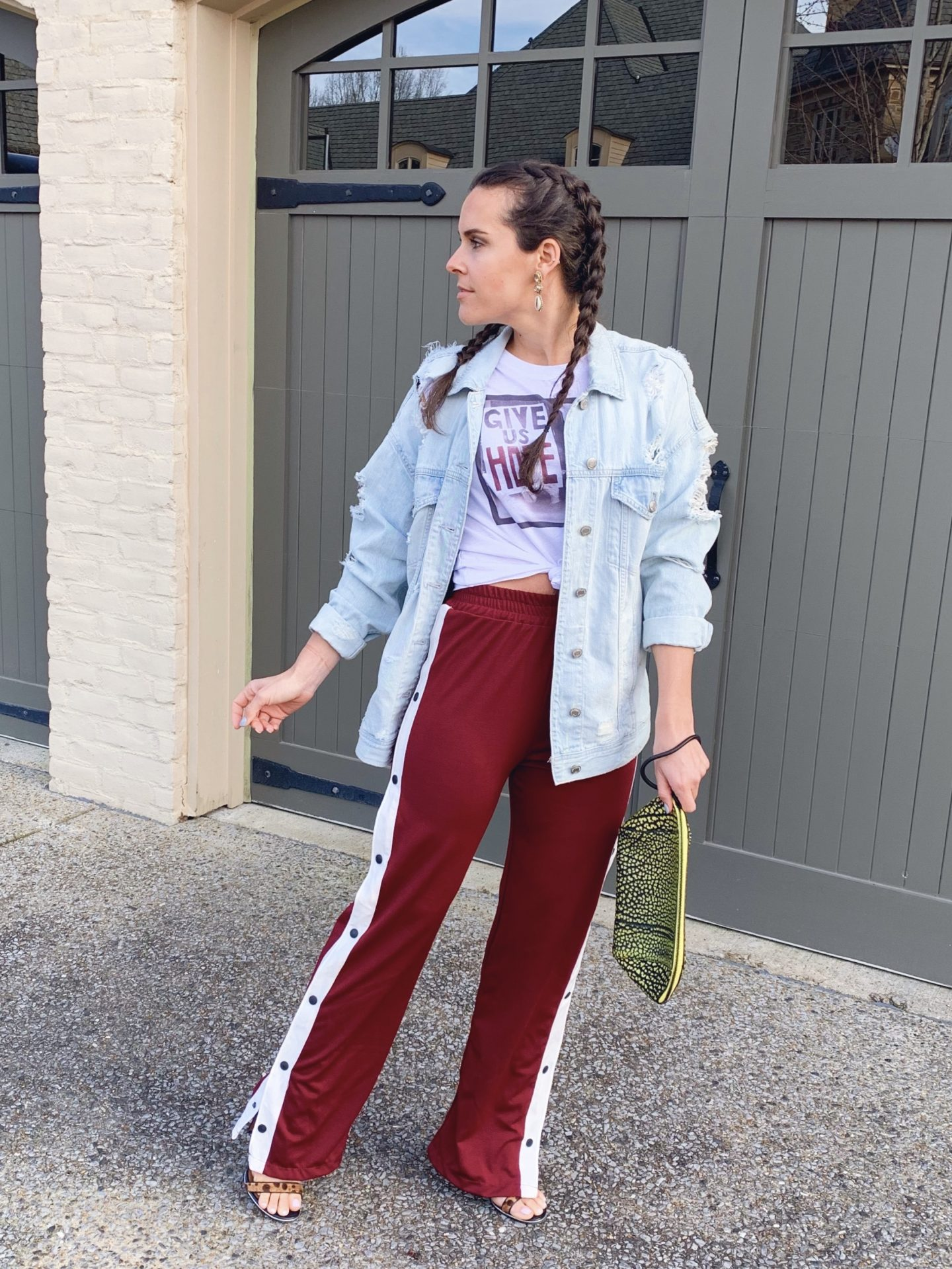 styled track pants