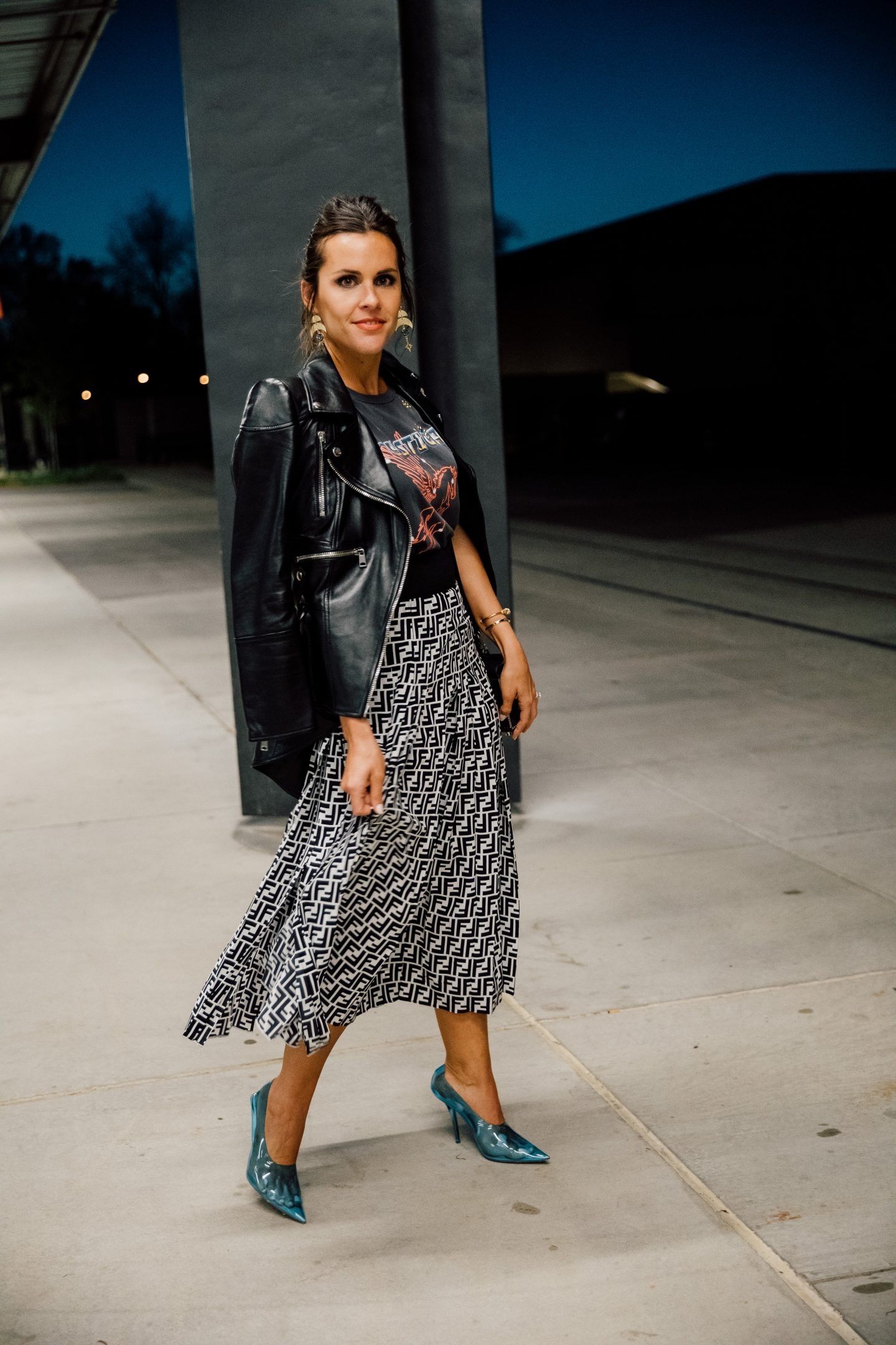 fendi pleated skirt