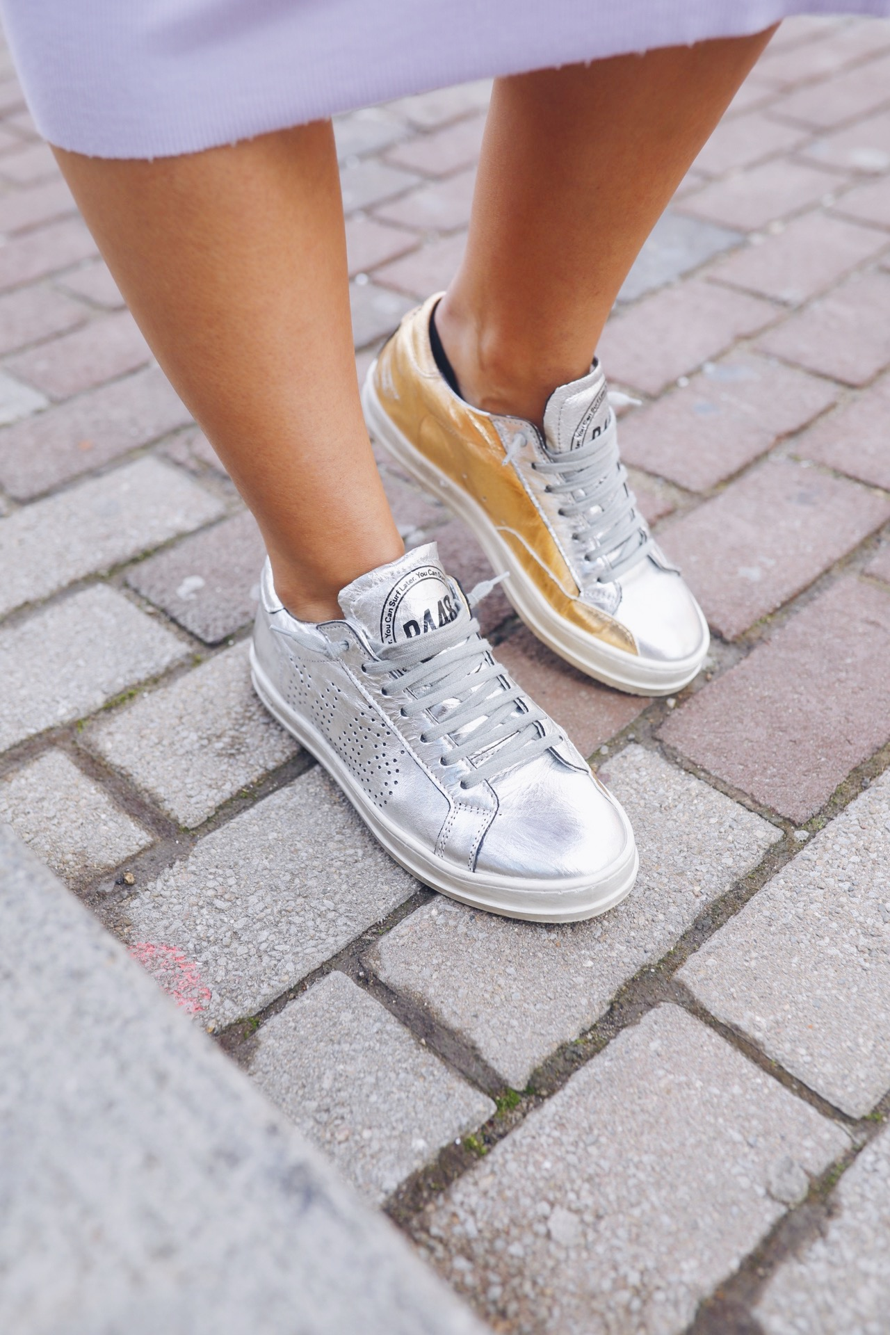 p448 metallic sneakers