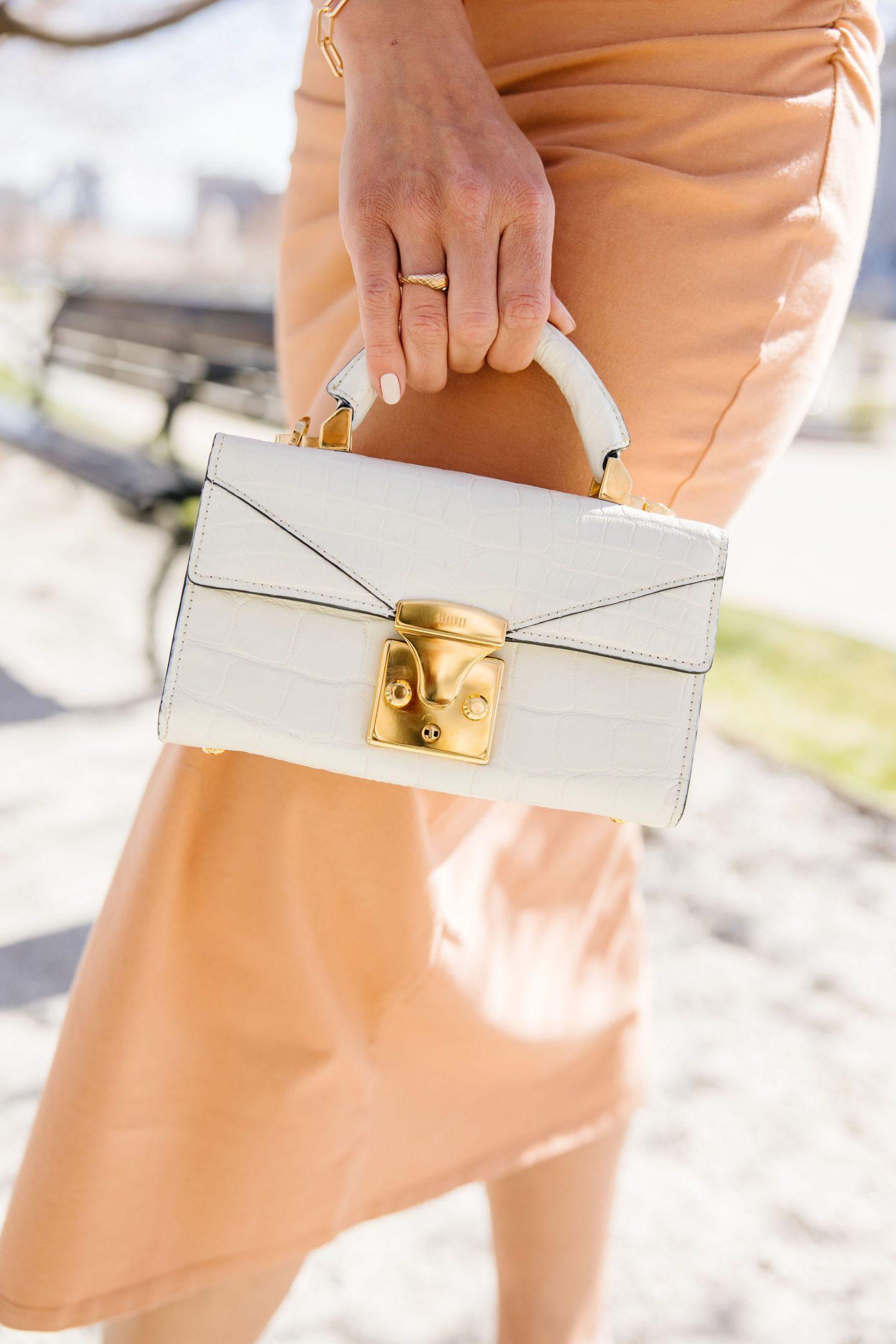 stalvey white croc bag